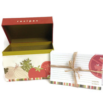 C.R. GIBSON Vegetable Recipe File Box with Cards #QR-7617 Cucina *No Div... - $9.86