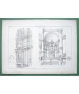 ARCHITECTURE PRINT : Italy Apse of Como Cathedral & S. Zaccaria Venice - $11.14