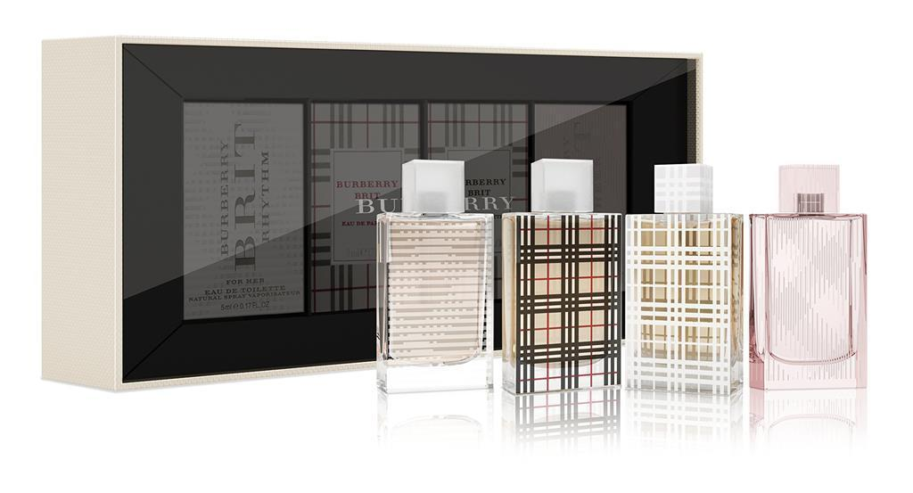 Primary image for Burberry Brit Perfume Travel For Women 4pc Gift Set NEW & Sealed Exclusive