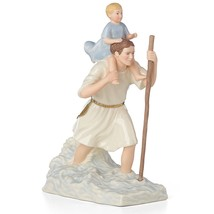 Lenox St Christopher with Christ Child Figurine Patron Saint of Traveler... - $98.99