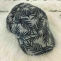 Gymboree Boys Sz S Snapback Hat Gray Foliage Print Adjustable Ball Cap - $9.89