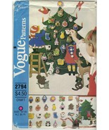 Vogue 2794 Christmas Advent Calendar & Ornaments Pattern Small Envelope ... - $48.99