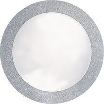 Glitz Silver 14 inch Round Placemats with Glitter Border/Case of 96 - $108.71