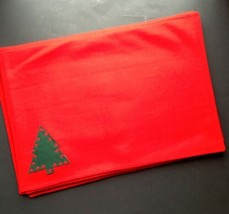Set of 6 Bed Bath & Beyond Red Wool Blend Placemats Christmas Trees - $17.77