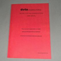 Deta Interantional #40 Disk Type Tool Changer System Manual MR4AE MR4BE ... - $95.00