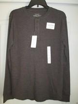 Sonoma Extra Soft Crewneck Long SLV Men Thermal Henley T-Shirt Dark Brown S $34 - $14.82