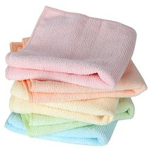 Home-X Microfiber Washcloths in Pastel Colors. Set of 5 Wash Cloths image 4