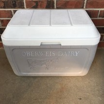 Coleman Oberweis Dairy Box Home Delivery Milk Cooler Ice Chest Model 528... - $28.04