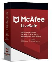 McAfee LiveSafe 2021 1 Year Unlimited Devices (Download) - $30.49