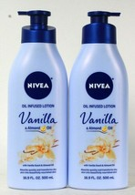 2 Bottles Nivea 16.9 Oz Vanilla & Almond Oil Infused Quick Absorbing Lotion - $31.99