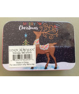 Merry Christmas Gift Card Tin Holder Holiday Reindeer Lindy Bowman New Sealed - $3.65