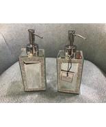 Bella Lux Bathroom Accessories Liquid Soap Pump Dispenser Set 2 ~ New ~ - $79.99