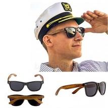 Walnut Wood Frame Sunglasses with Black Polarized Lenses for Men or Women  - $35.54