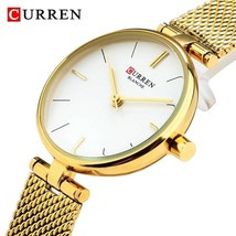 CURREN Watches Women Fashion 2018 Luxury Brand Quartz Watch Ladies Mesh Stainles - $34.82
