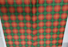 "PEVA Vinyl Tablecloth 52"" x 70"" Oblong (4-6 ppl) RED, GREEN & WHITE desi... - $10.88"