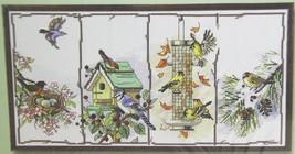 Counted Cross Stitch Birdhouse Bird Feeder Four Seasons Birds by Janlynn 18 x 10 - $24.99