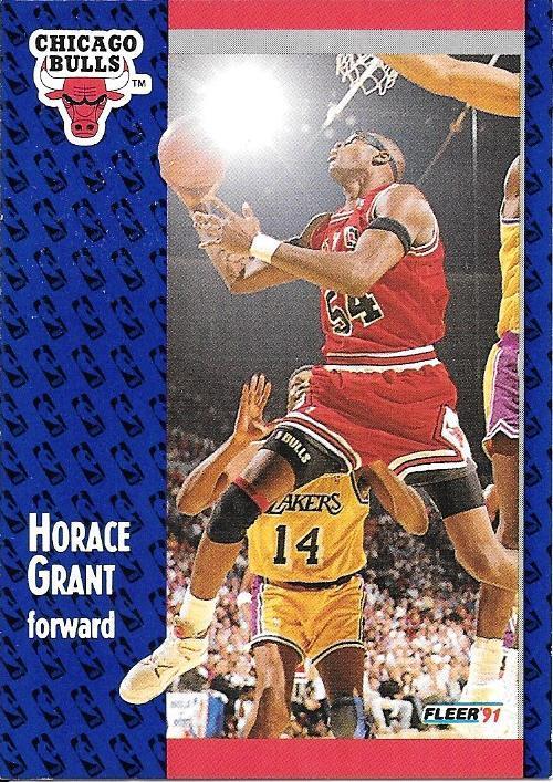 Horace Grant ~ 1991-92 Fleer #27 ~ Bulls