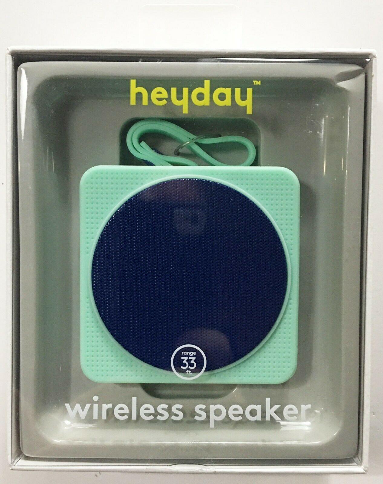 Heydey Wireless Speaker Bluetooth Portable Rechargeable Waterproof Mint NEW