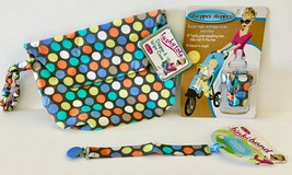 Sister Chic set- Binki Band, Dropper Stopper, and Tushy Tote- Disco Dots - $19.79