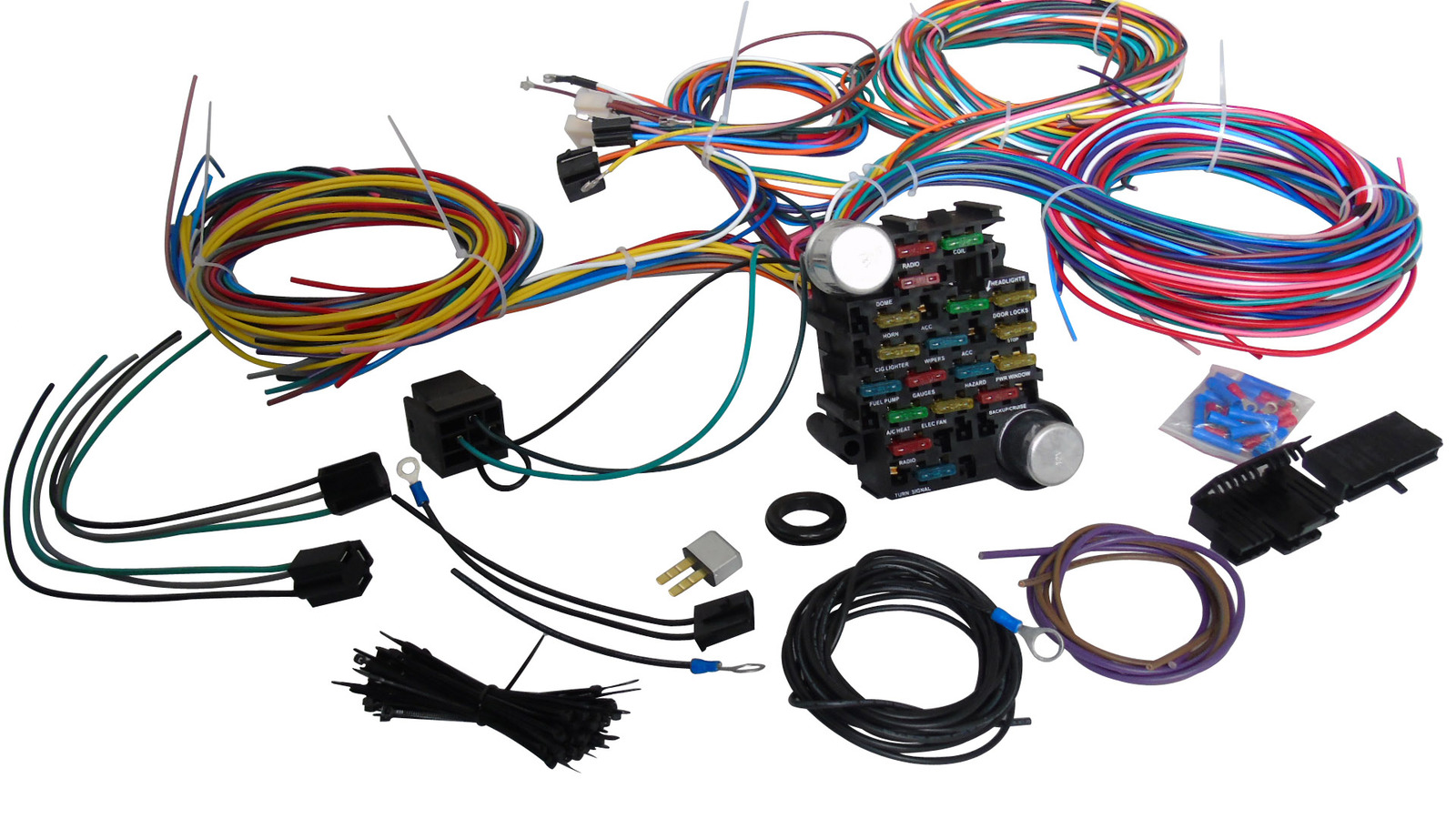 a team performance 21 standard circuit universal wiring harness rh swperformanceparts net universal wiring harness 20-circuit universal wiring harness labeled
