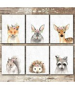 Shabby Chic Country Farmhouse Set of 6 8x10 Unframed Cute Animal Wall Art - $39.95