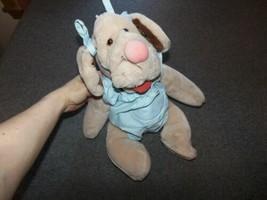 "Wrinkles Brown Plush Dog Puppet 17.5"" Talll Ganz Bros Blue Dress Heritage Coll. - $15.00"