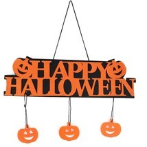 Halloween Decoration Happy Hanging Hangtag Halloween Window Decoration P... - £11.50 GBP