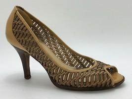 Cole Haan Air Women's Eve Pumps Peep Toe Beige Leather Size 6.5M - $39.59