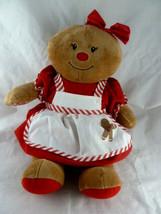 "Build A Bear Gingerbread Girl Doll 16"" Plush in Christmas Dress - $28.70"