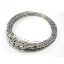 10 Neck Wire Steel Neck Wire Choker Necklace Silver Choker Neckwires Who... - $4.19