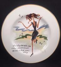 Sakura Glamour Girls Salad Dessert Snack Stoneware Plate Work Money Love Dance - $15.83