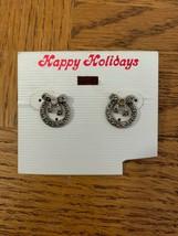 Vintage Christmas Wreath Earrings - $18.50