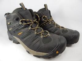 Keen Lansing Size 9 2E WIDE EU 42 Men's WP Steel Toe Work Shoes Black 1018079EE