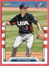 2012 Trea Turner Panini USA Baseball Rookie - Washington Nationals - $1.89