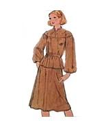 Misses Two Piece Dress Simplicity 8514 Pattern 1978 Vintage Size 10 12 1... - $7.99