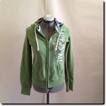 Aeropostale Signature Green Hoodie Jacket Coat Outerwear M - $9.75