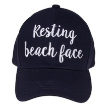 """RESTING BEACH FACE"" - CC Embroidered Adjustable Ball Cap Hat - OS Fits ... - $15.99"