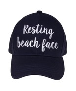 """""""RESTING BEACH FACE"""" - CC Embroidered Adjustable Ball Cap Hat - OS Fits ... - $15.99"""