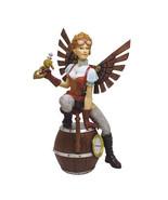 """Steampunk Lady Fairy Pistol Barrel Bomb Statue 8.75""""Tall - $34.84"""
