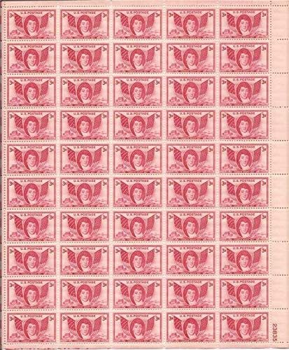 1948 Francis Scott Key Sheet of 50 US Postage Stamps Catalog Number 962 MNH