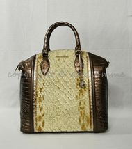 NWT Brahmin Large Duxbury Satchel/Shoulder Bag in Honey Carlisle image 5