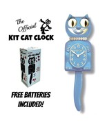"""SERENITY BLUE LADY KIT CAT CLOCK 15.5"""" Free Battery MADE IN USA Kit-Cat ... - £48.86 GBP"""