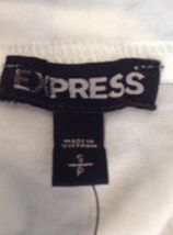 Express Womens Keyhole White Top high neck Blouse Size Small image 5