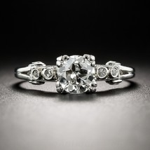 Beautiful White Topaz Round Cut Womens Anniversary Ring In Solid 14k White Gold  - $439.99