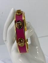 Coach Bracelet Turn-lock Bangle Gold Pink F96352   J3 - $58.79