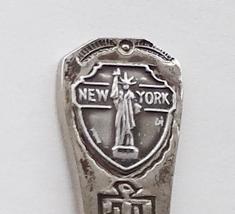 Collector Souvenir Spoon USA New York Statue of Liberty Native Design - $3.99