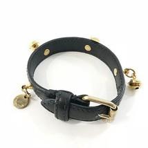 Prada Collar Safiano Black Used Leather Prada Lead Dog Cat - $178.20