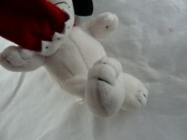 "Hallmark Christmas Snoopy Lovey 9"" Soft Plush Doll with hat and stocking  image 4"