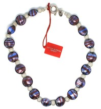 Necklace Antica Murrina Venezia, Glass Murano, Silver 925, Oval Purple, CO015A05 image 2