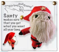 Kamibashi Santy Clause Original String Doll Gang Collectable Keychain - $10.99
